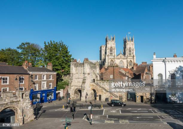 york city bar walls bootham bar - fortified wall stock photos and pictures