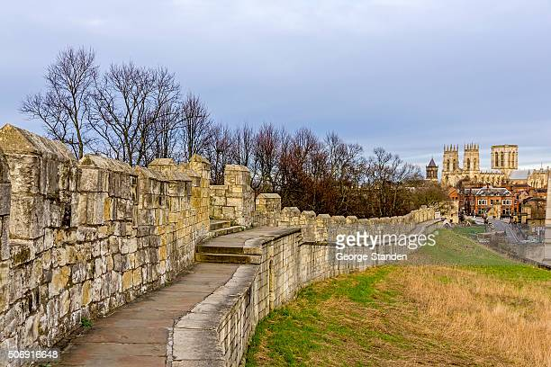 york city center - castle wall stock pictures, royalty-free photos & images