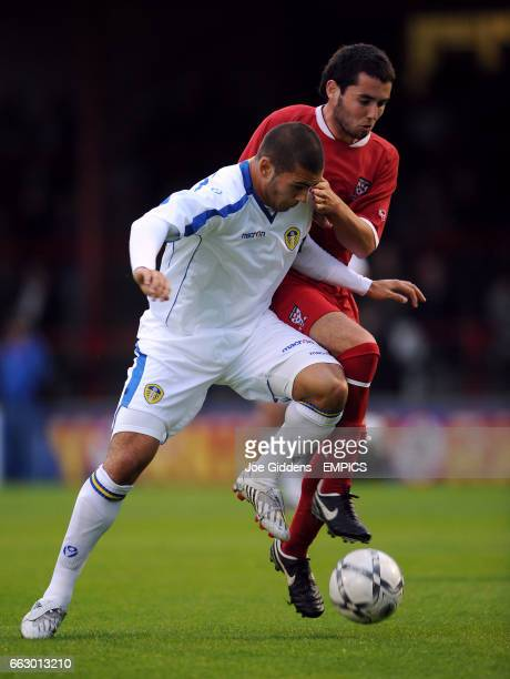 York City's Niall Henderson and Leeds United's Bradley Johnson