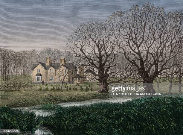 York Cottage or Bachelor's Cottage Sandringham Estate Norfolk United Kingdom illustration from the magazine The Illustrated London News volume LX...