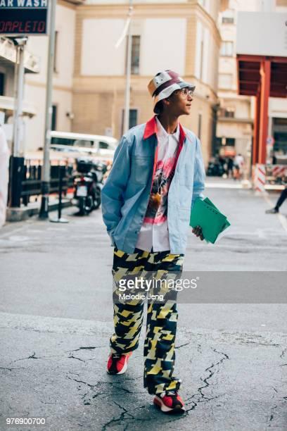 York Elie Meir York Elie Meire in Marni during Milan Men's Fashion Week Spring/Summer 2019 on June 16 2018 in Milan Italy
