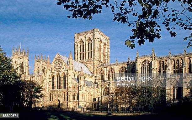 york minster cathedral church, city of york - york minster stock photos and pictures