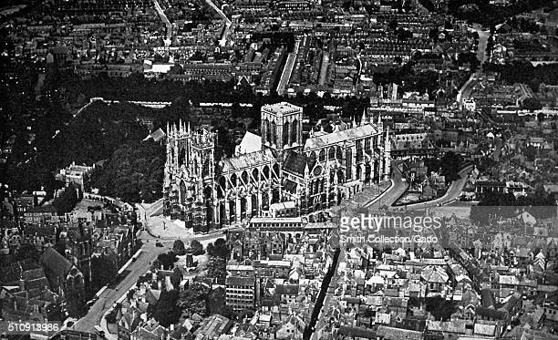 York Minster seen from the air United Kingdom 1922