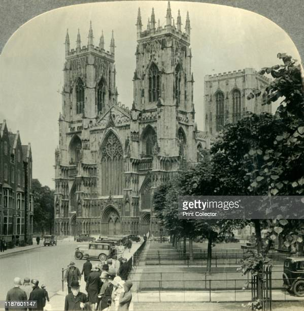 "York Minster, York, England', circa 1930s. The western towers at Grade I listed York Minster were added between 1433 and 1472. From ""Tour of the..."