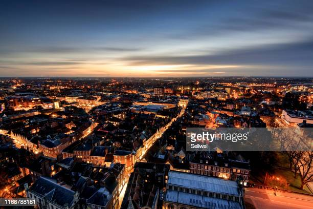 york skyline against sunset - york yorkshire stock pictures, royalty-free photos & images