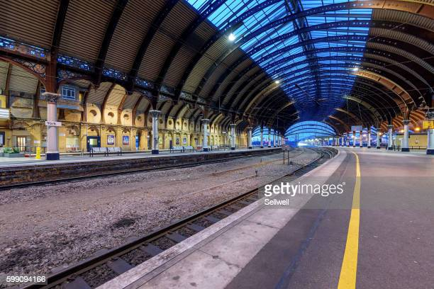 york station - york yorkshire stock photos and pictures