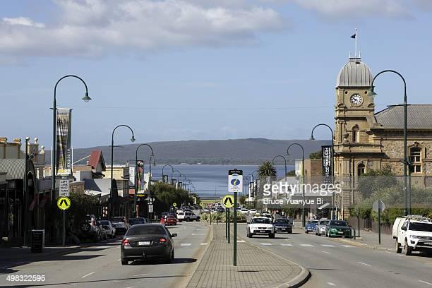 york street and town hall - western australia stock-fotos und bilder
