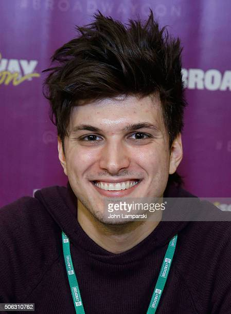 Actor Alex Boniello attends BroadwayCon 2016 at the Hilton Midtown on January 22 2016 in New York City