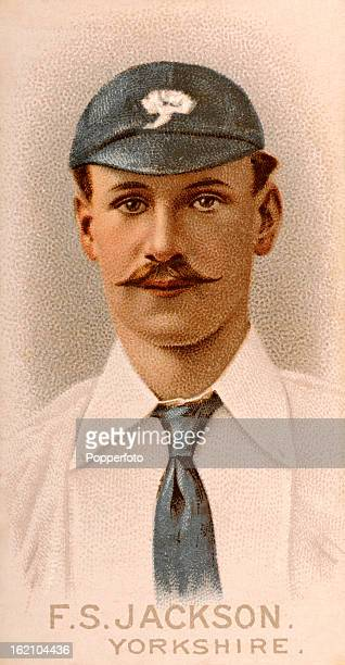 Yorkshire and England cricketer FS Jackson, featured on a vintage cigarette card published in 1896.