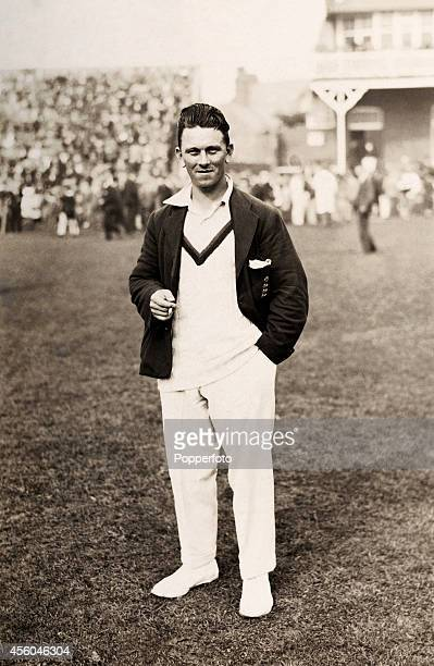Yorkshire and England cricketer Maurice Leyland during the Scarborough Cricket Festival circa 1925