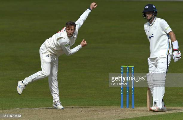 Yorkshire batsman Joe Root looks on as his brother and Glamorgan bowler Billy Root bowls during day two of the LV= Insurance County Championship...