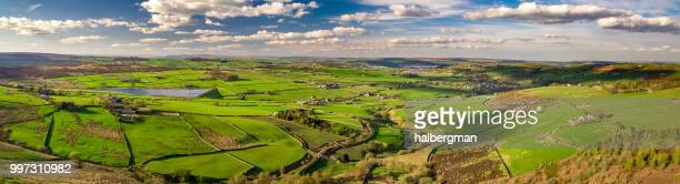 Yorkshire Countryside in Sunlight - Aerial Panorama