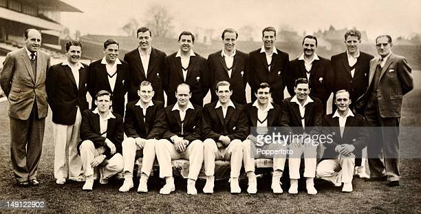 Yorkshire county cricket team April 1962 Back row Ted Lester Phil Sharpe Doug Padgett Melville Ryan Michael Cowan Bob Platt Don Wilson Brian Bolus...