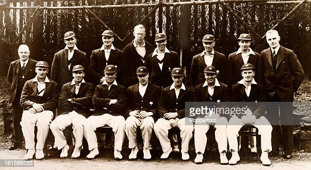 Yorkshire county cricket team circa April 1935 Back row Heyhirst Len Hutton Frank Smailes Bill Bowes Ellis Robinson Cyril Turner Horace Fisher Bill...
