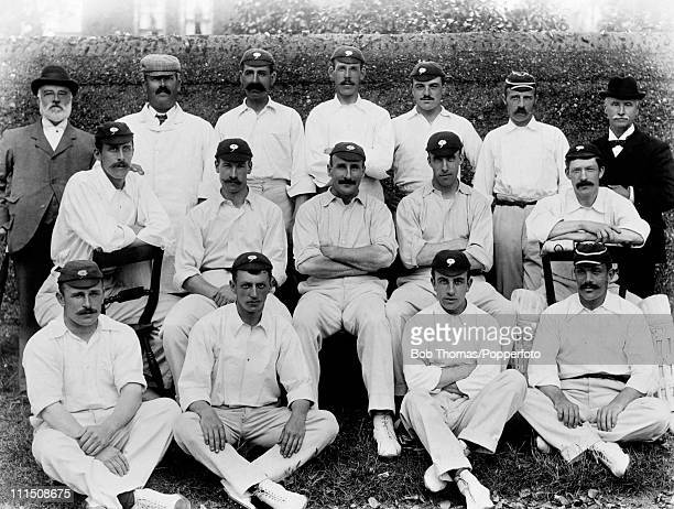 Yorkshire County Cricket Team winners of the County Championship pictured in Leeds September 1896 Back row Mr J Wostinholm unknown David Hunter...