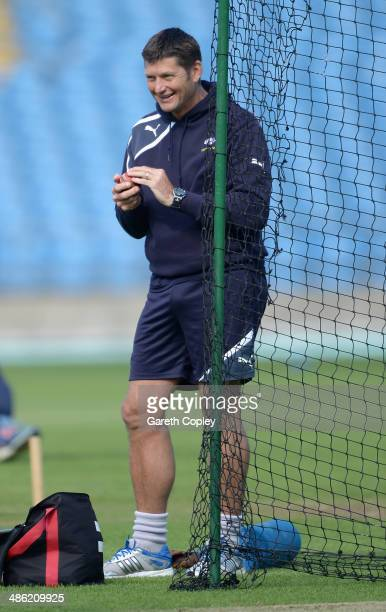 Yorkshire director of cricket Martyn Moxon ahead of day four of the LV County Championship division One match between Yorkshire and Northamptonshire...
