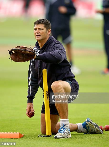 Yorkshire director of cricket Martyn Moxon during the fourth day of the LV County Championship match between Nottinghamshire and Yorkshire at Trent...