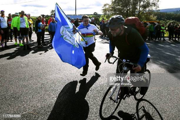 Yorkshire Flag / Public / Fans / Norwood Edge Climb / during the 92nd UCI Road World Championships 2019 Women Elite Road Race a 1494km race from...