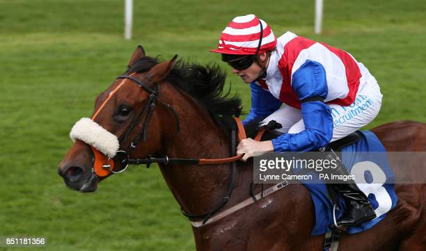 Yorkshire Relish ridden by Phillip Makin wins The SKF Rous Selling Stakes at York Racecourse York