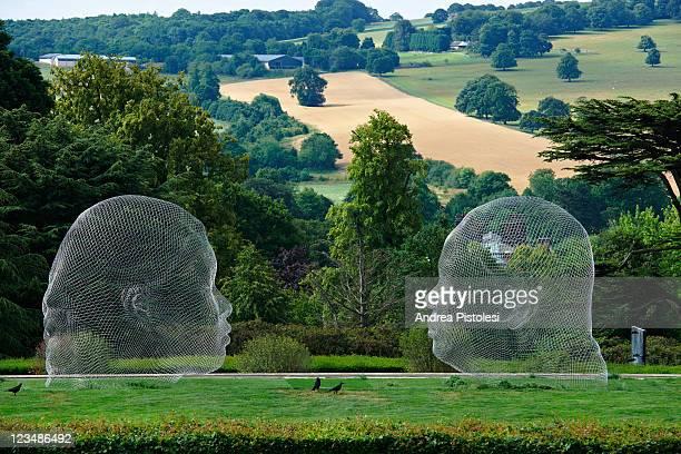 yorkshire sculpture park, open air museum - sculpture stock pictures, royalty-free photos & images