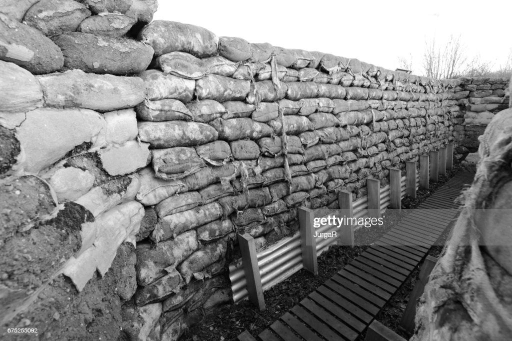 Tranchée de Yorkshire et creusé des tranchées de la première guerre mondiale en Belgique Ypres : Photo