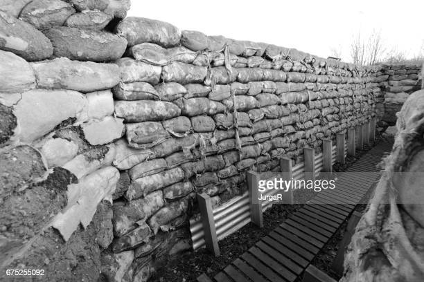 Yorkshire Trench and Dug Out WWI Trenches in Ypres Belgium