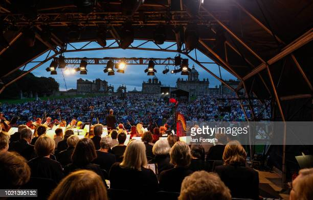 Yorkshire's biggest openair proms of the summer takes place at Castle Howard on August 18 2018 in Malton England Held in the gardens of the stately...