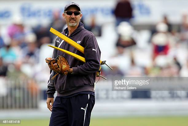 Yorkshire's coach Jason Gillespie on day three of the LV County Championship division one match between Yorkshire and Worcestershire at North Marine...
