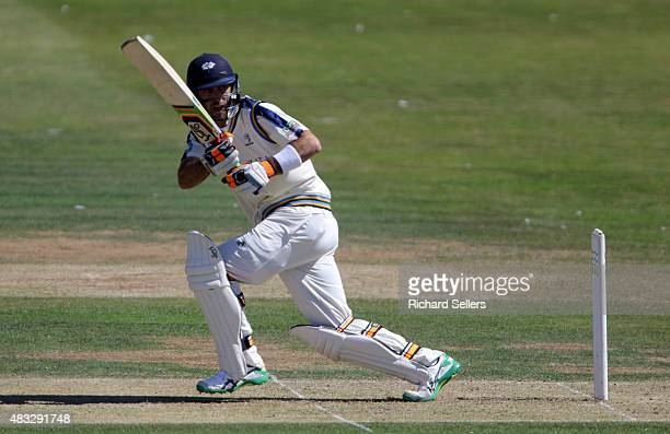 Yorkshire's Glenn Maxwell batting during day one of the LV County Championship division one match between Yorkshire and Durham at North Marine Road...