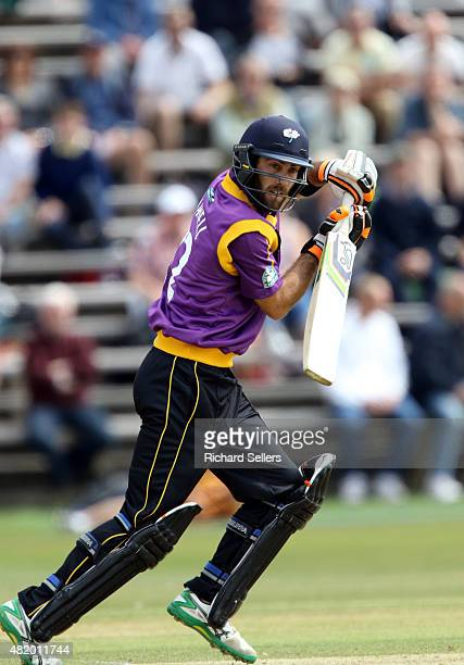 Yorkshire's Glenn Maxwell batting during the Royal London OneDay Cup between Yorkshire Vikings and Gloucestershire at North Marine Road on July 26...