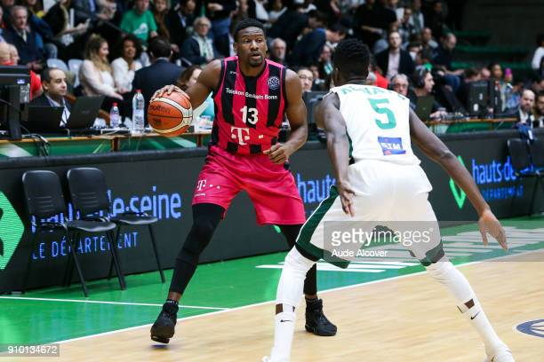 Yorman Polas Bartolo of Bonn during the Basket ball Champions League match between Nanterre and Bonn on January 24 2018 in Nanterre France