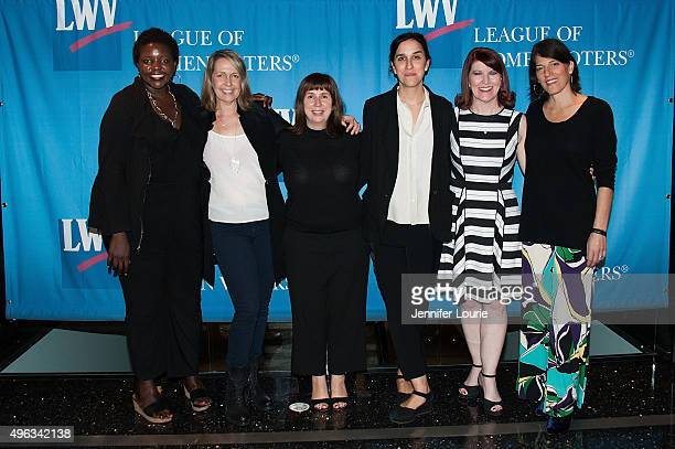 Yoruba Richen Monica Horan Rosenthal Abi Morgan Sarah Gavron Kate Flannery and Linda Goldstein Knowlton attend the League of Women Voters of Los...