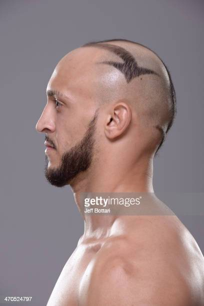 Yosdenis Cedeno poses for a portrait during a UFC photo session on February 19 2014 in Las Vegas Nevada