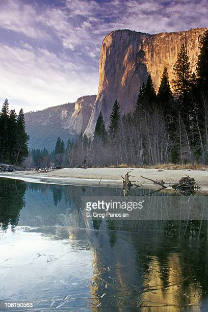 Yosemite El Capitan Mountain im Winter