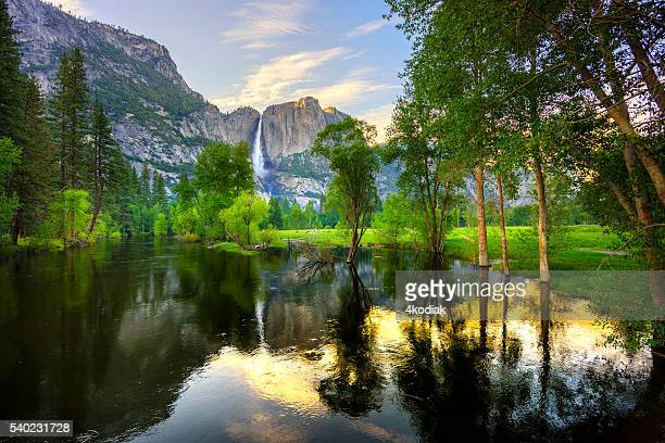 yosemite falls - yosemite valley stock photos and pictures