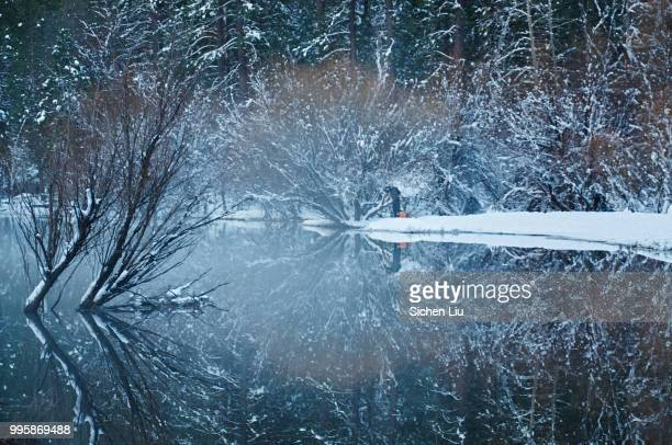 yosemite mirror lake - liu he stock pictures, royalty-free photos & images