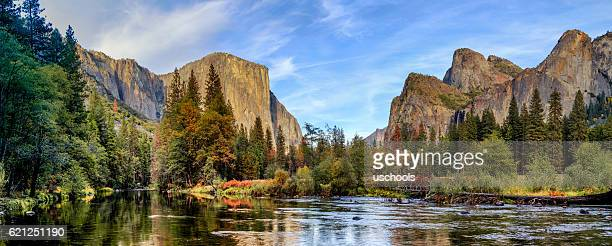 yosemite national park panorama - national landmark stock pictures, royalty-free photos & images