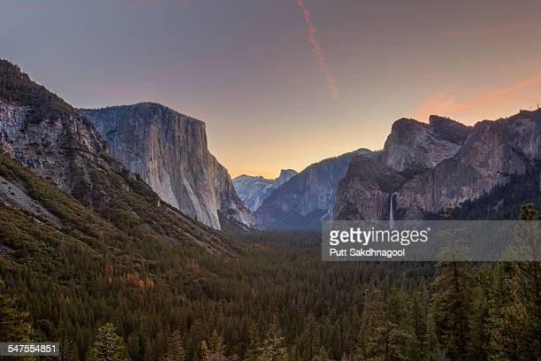 Yosemite Tunnel View at Twilight