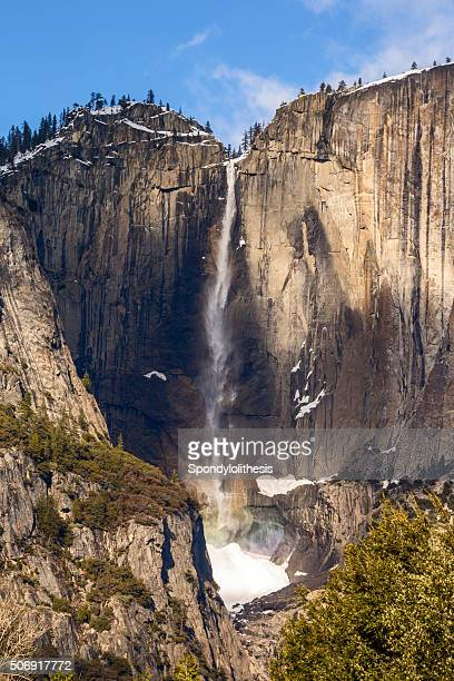 Yosemite Upper Fall in Winter, California