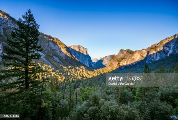 Yosemite Valley and the Sierra Nevada Mountains in California, United States. Scenic Mountain Vista.