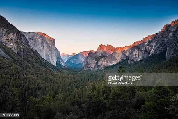 Yosemite Valley, California, USA, elevated view