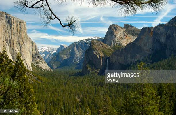 Yosemite Valley in March El Capitan Clouds Rest Half Dome Sentinel Rock Sentinel Dome Bridalveil Fall and Cathedral Rocks Discovery View Wawona...