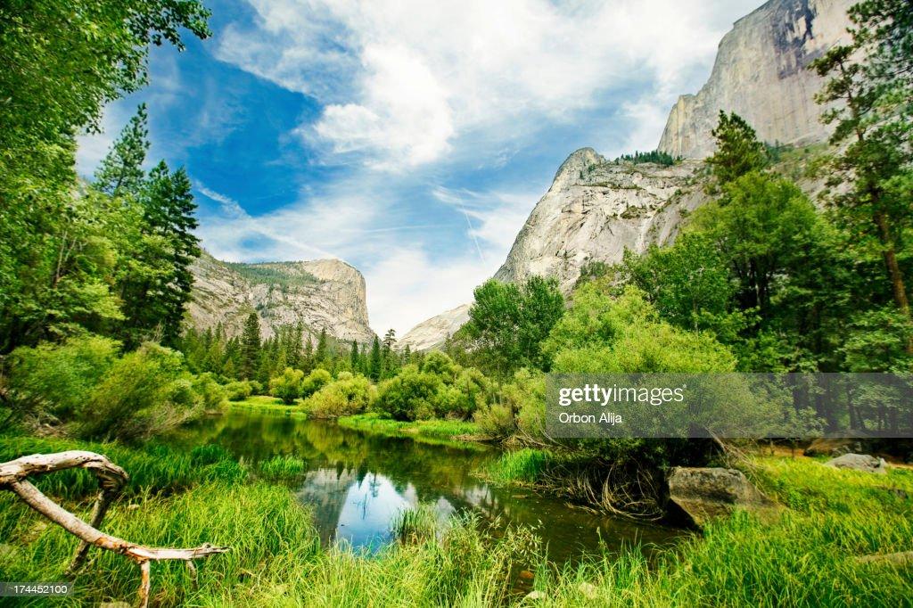 O Yosemite Valley : Foto de stock