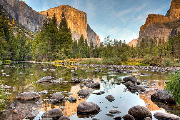 Yosemite Valley Reflected in Merced River