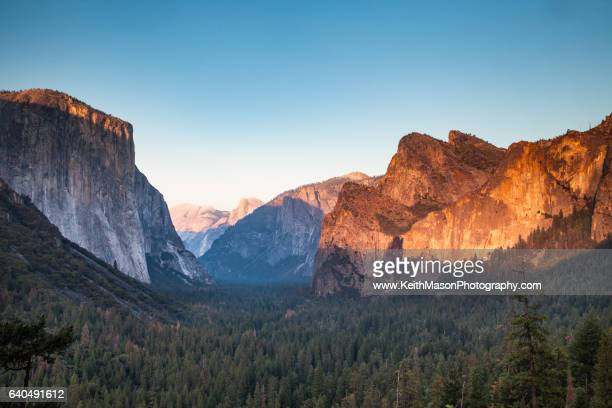 Yosemite Valley - Tunnel View at Sunset