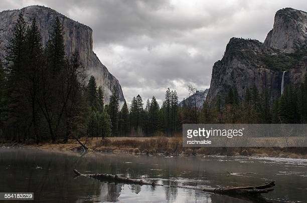 Yosemite Valley View Across the Merced River