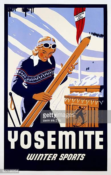Yosemite Winter Sports Poster