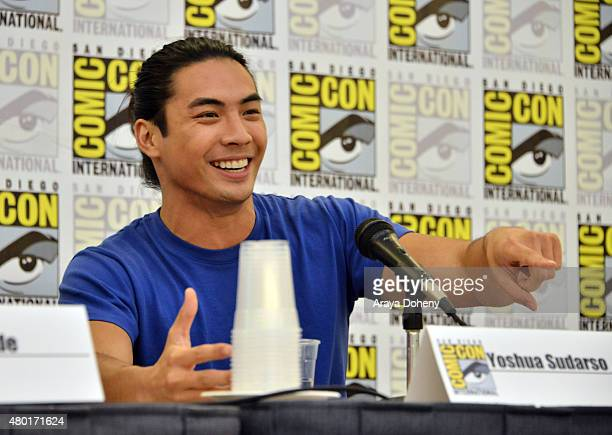 Yoshi Sudarso from Saban's Power Ranger Dino Charge participates in the official San Diego ComicCon Power Rangers panel at the San Diego Convention...