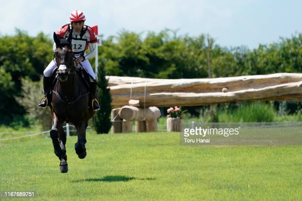 Yoshiaki Oiwa of Japan riding Bart L JRA competes in the Cross-Country during day two of the Equestrian Tokyo 2020 Test Event at Sea Forest...