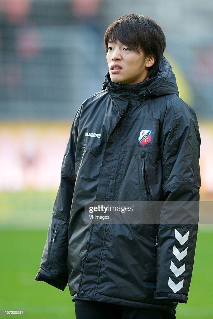 Yoshiaki Takagi of FC Utrecht during the Dutch Eredivisie match between FC Utrecht and AZ Alkmaar at the Galgenwaard Stadium on December 02, 2012 in Utrecht, The Netherlands.